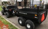 trailer behind quad profi gardener
