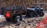 trailer behind work quad