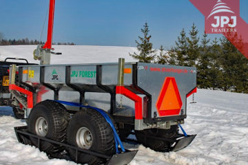 ski for atv trailer worker