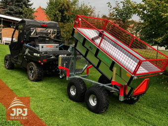 UTV and trailer profi worker with Raised sideboard