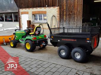 atv trailer profi gardener behind small tractor