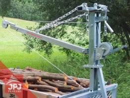 revolving loading crane with winch