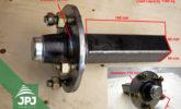 Wheel hubs JPJ 1350 - dimensions
